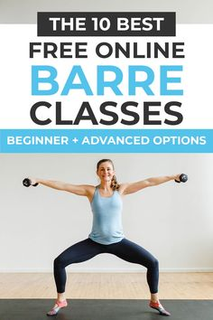 The Best Barre Classes Online Get a full body workout with these FREE online barre workouts! From beginner barre to advanced power barre workouts, there's something for everyone! Ballet Barre Workout, Barre Workout Video, Cardio Barre, Home Workout Videos, 20 Minute Workout, Mommy Workout, Pilates Video, Pilates Workout, Fitness Workouts