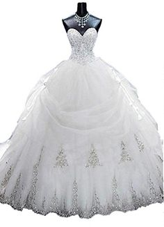 Lovelybride Gorgeous Beaded Gold Appliques Puffy Wedding Ball Gown with Long Train (2, White) Lovelybride http://www.amazon.com/dp/B018E43BJU/ref=cm_sw_r_pi_dp_EBeQwb0QV8HBA
