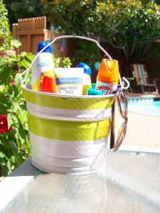 Hosting a cookout or just having friends over to hang out in the backyard? Leave out these essentials for everyone to use as needed.