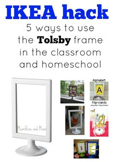 Ikea hack: Tolsby frames in the classroom and homeschool by Munchkins and Moms