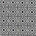 Cotton Valle Ornament 3 - musta - Musta ja valkoinen - Muut puuvillakankaat - kankaita.com