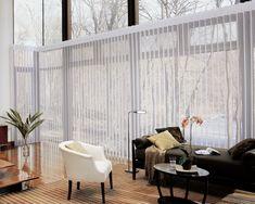 Sliding glass door window treatments kitchen hunter douglas 49 new ideas Patio Blinds, Outdoor Blinds, Curtains With Blinds, Blinds For Windows, Windows And Doors, Roman Blinds, Diy Blinds, Sheer Blinds, Blinds Ideas