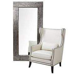 Our Timber Leander Mirror is hand-painted silver and then authentic silver leaf is hand-applied by skilled artisans. A final step is antiquing it with a hand-rubbed oil.