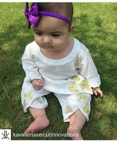 Pakistani baby girl Eid outfit. Cutie pie ♡
