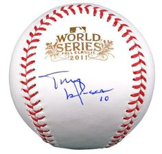 Tony Larussa Autographed 2011 World Series Baseball - JSA Certified - Autographed Baseballs by Sports Memorabilia. $112.51. Tony Larussa Autographed 2011 World Series Baseball - JSA. A+ quality signature. It can be difficult to find pieces like this since Tony Larussa doesn't paticipate in signing sessions very often. All of our items are guaranteed authentic and can be verified via hologram. Pieces like this are great because he's got the stats to back up all the hype. Like ever...