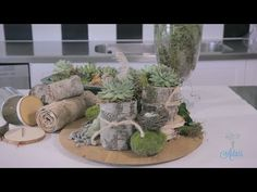 Flowers and Floristry Tutorial: Woodland Table Centrepiece - YouTube