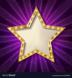 Gold star on a dark background Royalty Free Vector Image Purple Background Images, Kids Background, Bright Background, Purple Backgrounds, Gold Star Wallpaper, Pretty Phone Wallpaper, Framed Wallpaper, Swimming Pictures, Boarder Designs