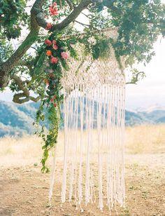 Diablo Ranch Summer Bohemian Wedding // Walnut Creek, CA — The Poffs // Bay Area wedding photographers & videographers Wedding Scene, Fantasy Wedding, Tree Wedding, Chic Wedding, Floral Wedding, Garden Wedding, Rustic Wedding, Wedding Altars, Wedding Ceremony Decorations