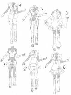 Outfit set 6: cute ninja by Kohane-chan.deviantart.com on @DeviantArt
