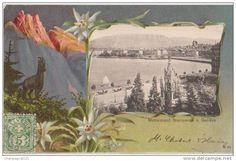 CPA GENEVE Souvenir Fantaisie Gruss Aus Chamoix Pont Monument Bruswick 1901