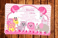 Hey, I found this really awesome Etsy listing at https://www.etsy.com/listing/168823448/baby-shower-pink-jungle-animals-savanah