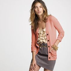 ruffles, cardigan and pencil skirt - for work!