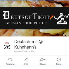 We are Popping-Up at Kuhnhenns brewery in Warren on FRIDAY with our VERY SPECIAL DEUTSCHTROIT MENU! @deutschtroit @berlin_detroit @shaphidet Pop Up, Loaded Tater Tots, Brewery, Detroit, Berlin, Menu, Friday, Menu Board Design, Menu Cards