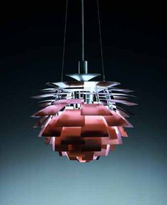 The PH Artichoke Suspension Lamp was created by Poul Henningsen for the design label Louis Poulsen.The label started producing lighting in Denmark over a hundre Unique Lighting, Lighting Design, Vintage Lighting, Pendant Lamp, Pendant Lighting, Light Pendant, Lamp Light, Light Bulb, Luminaire Design