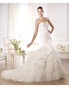 Elegant & Luxuriös Applikation Reißverschluss Brautkleider 2014