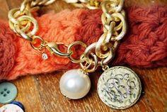 NEED this gold monogram bracelet