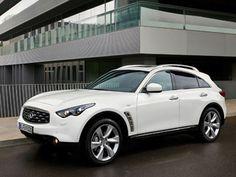 Dream Car. White infinity suv