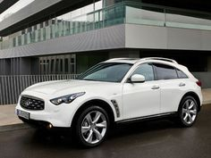 Dream Car.   White infinity suv <3