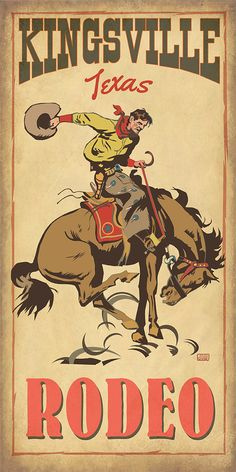 Rodeo time in Texas. www.etsy.com/shop/texasposter