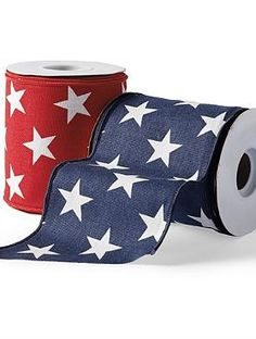 Adorn any space in your home or your outdoor space this summer with Stars Fourth of July Ribbon; the perfect patriotic touch.