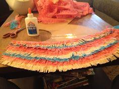 DIY birthday decoration with tissue paper