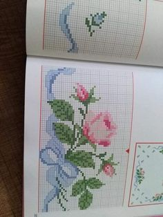This Pin was discovered by Gün Cross Stitch Heart, Cross Stitch Borders, Modern Cross Stitch Patterns, Cross Stitch Flowers, Cross Stitching, Cross Stitch Embroidery, Hand Embroidery, Tunisian Crochet Patterns, Cross Stitch Kitchen