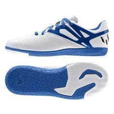 3af0354cd59  49.49 - Adidas Messi 15.3 Youth Indoor Soccer Shoes (White Prime  Blue Black)