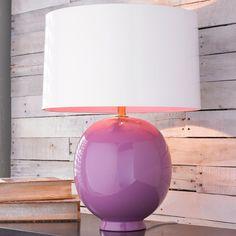 Modern Ceramic Egg Pop of Color Table Lamp