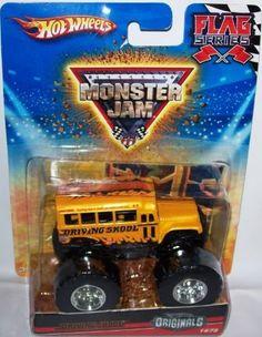 Hot Wheels Originals 2010 1:64 Scale Monster Jam Flag Series DRIVING SKOOL Bus Truck 14/75 by Hot Wheels. $32.95. 1/64 Scale ( SMALL TRUCK ). Hot Wheels Monster Jam series. Hot Wheels Originals 2010 1:64 Scale Monster Jam Flag Series DRIVING SKOOL Bus Truck 14/75