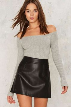 Nasty Gal Collection Turn Up the Night Vegan Leather Skirt