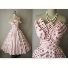 50 der Fred Perlberg Dress / / Jahrgang 1950 von TheVintageStudio