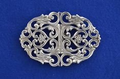 8f02a3543 A beautiful Art Nouveau style solid silver nurses belt buckle. Hallmarked  for London 1994 by maker AN.
