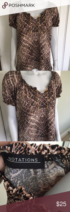 Taupe Blouse Short Sleeve 107