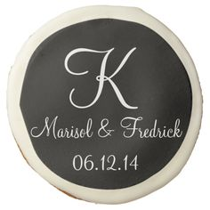 Wedding Onyx Classy Matching Color Sugar Cookie