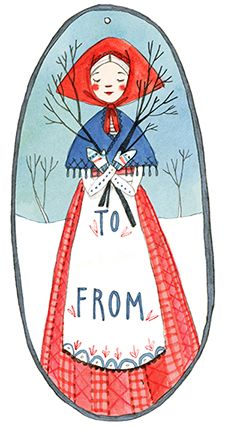 To + From - Gift Tag Printable - Abigail Halpin - Illustration