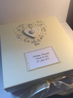Luxury personalised wedding keepsake memory box £18.99