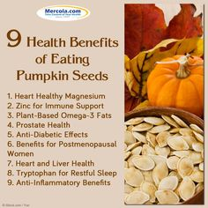 9 Health Benefits of Eating PumPkin Seeds. Heart healthy Magnesium, Zinc for… Heart Healthy Diet, Healthy Life, Healthy Snacks, Healthy Living, Healthy Cooking, Healthy Eats, Health And Nutrition, Health Tips, Health And Wellness