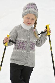 1011: Modell 5 Jakke og lue #strikk #knit #fjells Knit Crochet, Crochet Hats, Baby Sweaters, Kids Outfits, Winter Hats, Pullover, Knitting, Fashion, Tejidos