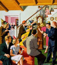 Arthur Sarnoff Artist | visit vintageholidays tumblr com