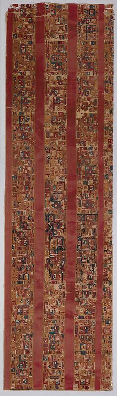 Tunic Fragment Date: 7th–9th century Geography: Peru Culture: Wari Medium: Camelid hair, cotton Accession Number: 30.16.1
