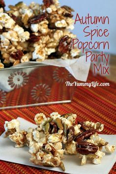 Autumn Spice Popcorn Party Mix from TheYummyLife.com