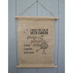 South Carolina Pledge of Allegiance Wall Hanging by AspieHome, $18.00