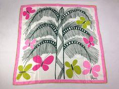 Vera Neumann Silk Blend Butterfly Tree Scarf Pink by CharlottesKat