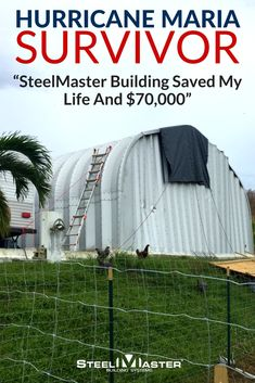A Puerto Rico resident says he rode out the storm inside of his disaster resistant SteelMaster Building. He says thanks to his metal Quonset Hut, he is alive and able to tell his story.