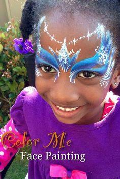 Frozen princess #facepainting design for girls