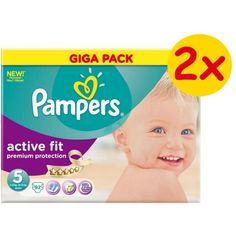 Πάνες Pampers Active Fit Giga Box 2x92τεμ Νο 5 (11-25kg)