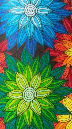 Het tweede enige echte kleurboek voor volwassenen Posca Art, Hippie Art, Color Pencil Art, Art Drawings Sketches, Mandala Art, Pattern Art, Doodle Art, Art Lessons, Flower Art