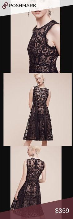 Anthropologie Nannette Lepore lace black midi NWT. Absolutely stunning!!!! No flaws. No trade. No lowball please. Size 4. Measurement will update soon. Anthropologie Dresses Midi
