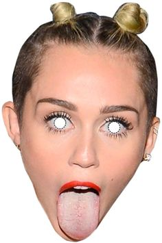 15 máscaras de famosos para curtir muito a zoeira do Carnaval Miley Cyrus e sua língua.