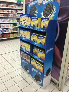 cardboard display,POP display for OREO